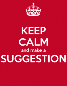 keep calm and suggest