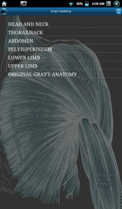Screenshot Gray's Anatomy Android App